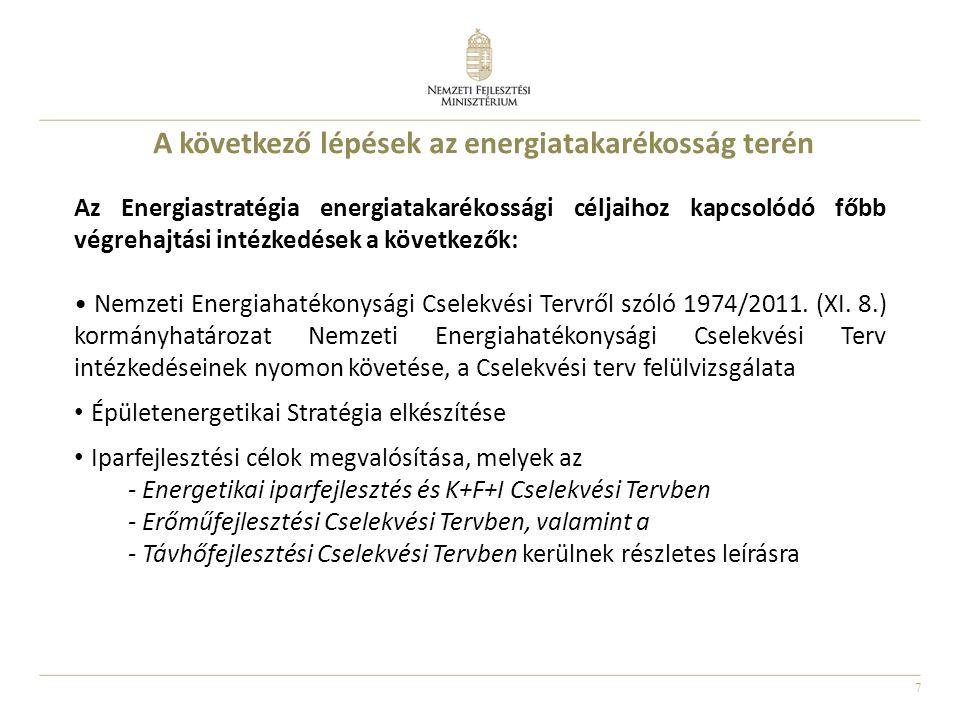 A következő lépések az energiatakarékosság terén