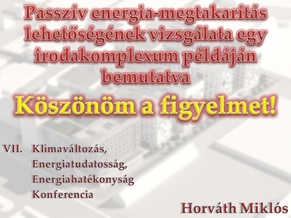 Passzív energia-megtakarítás lehetőségének vizsgálata egy irodakomplexum példáján bemutatva