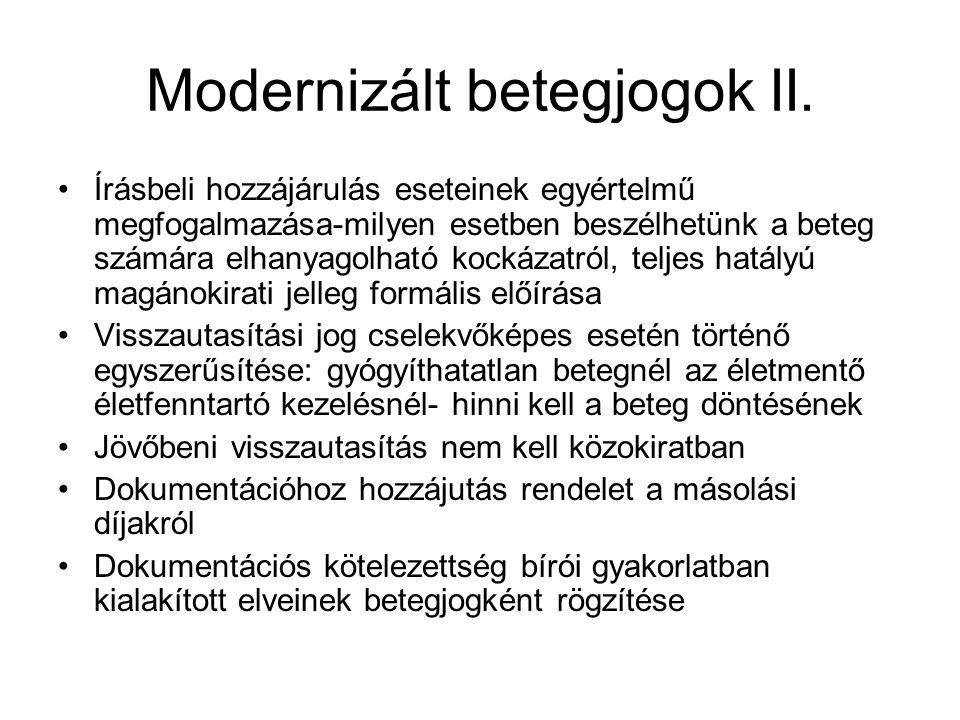 Modernizált betegjogok II.