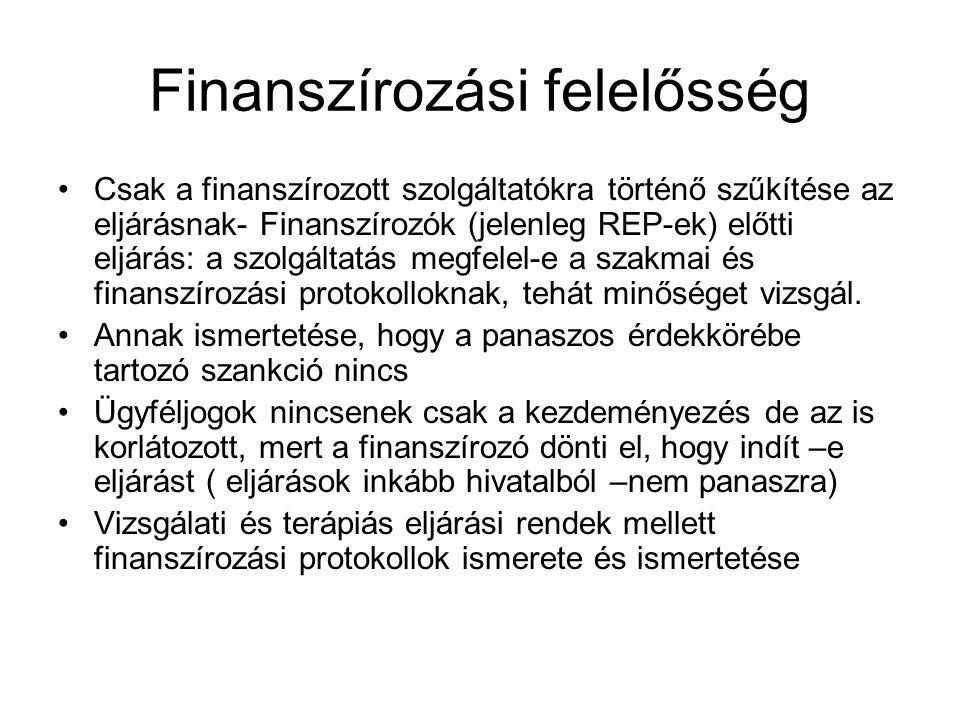 Finanszírozási felelősség