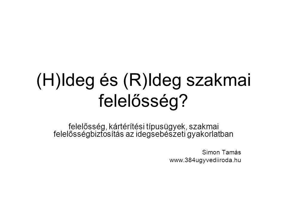 (H)Ideg és (R)Ideg szakmai felelősség