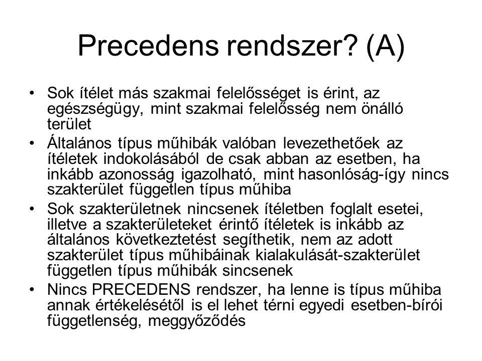 Precedens rendszer (A)