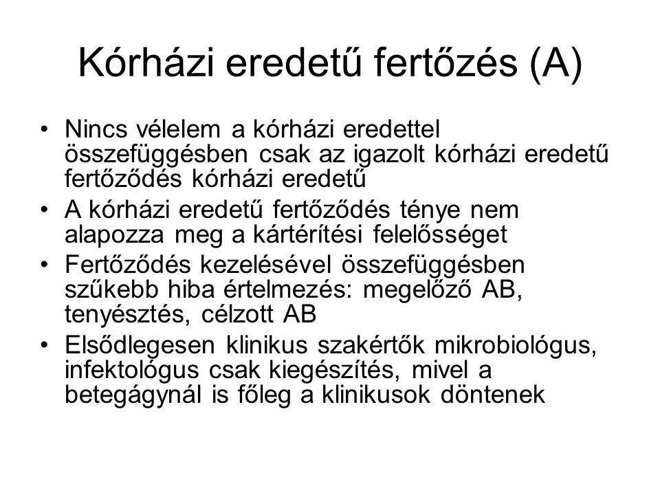 Kórházi eredetű fertőzés (A)