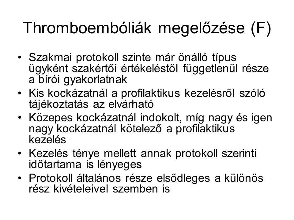 Thromboembóliák megelőzése (F)