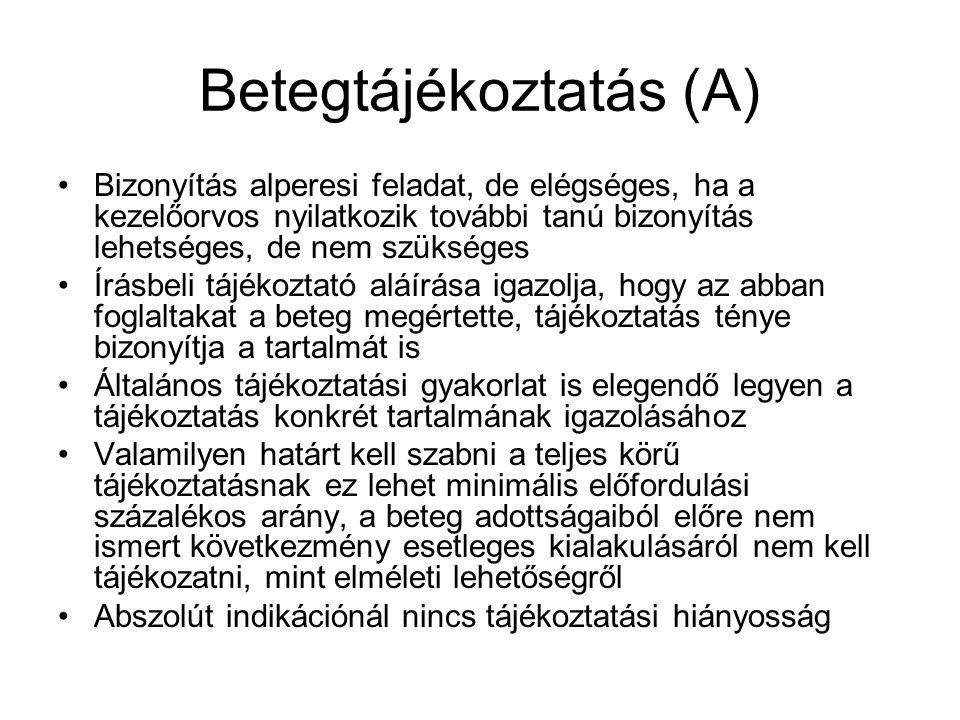 Betegtájékoztatás (A)