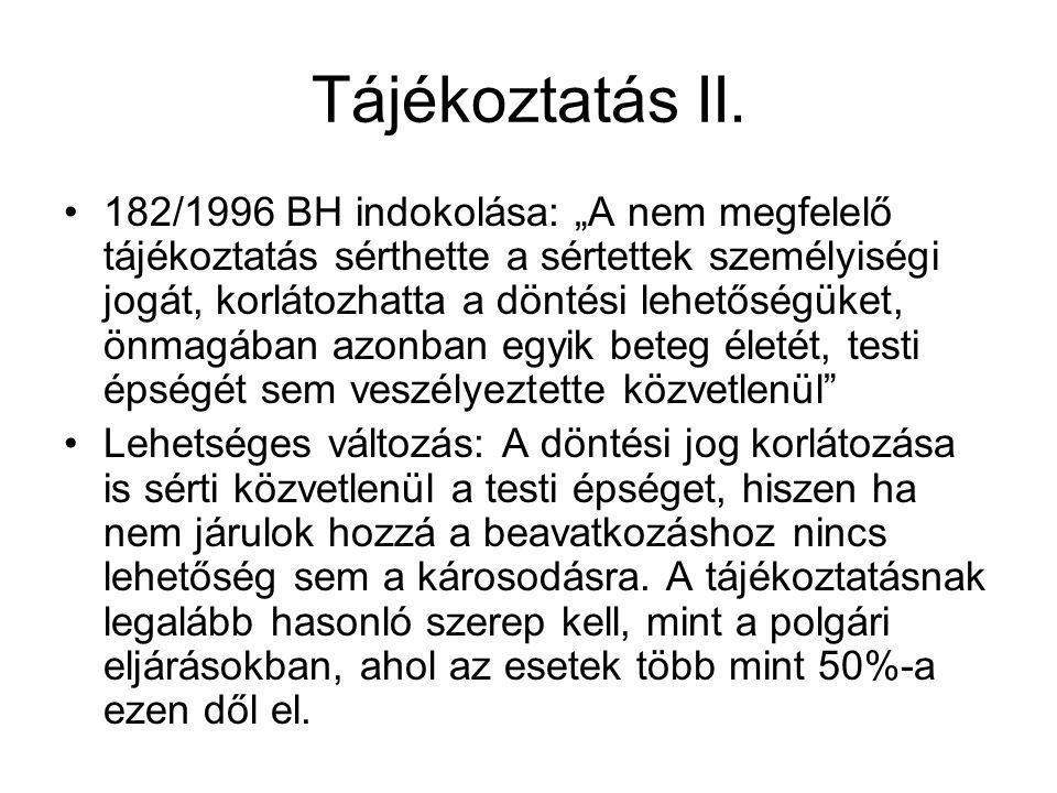 Tájékoztatás II.
