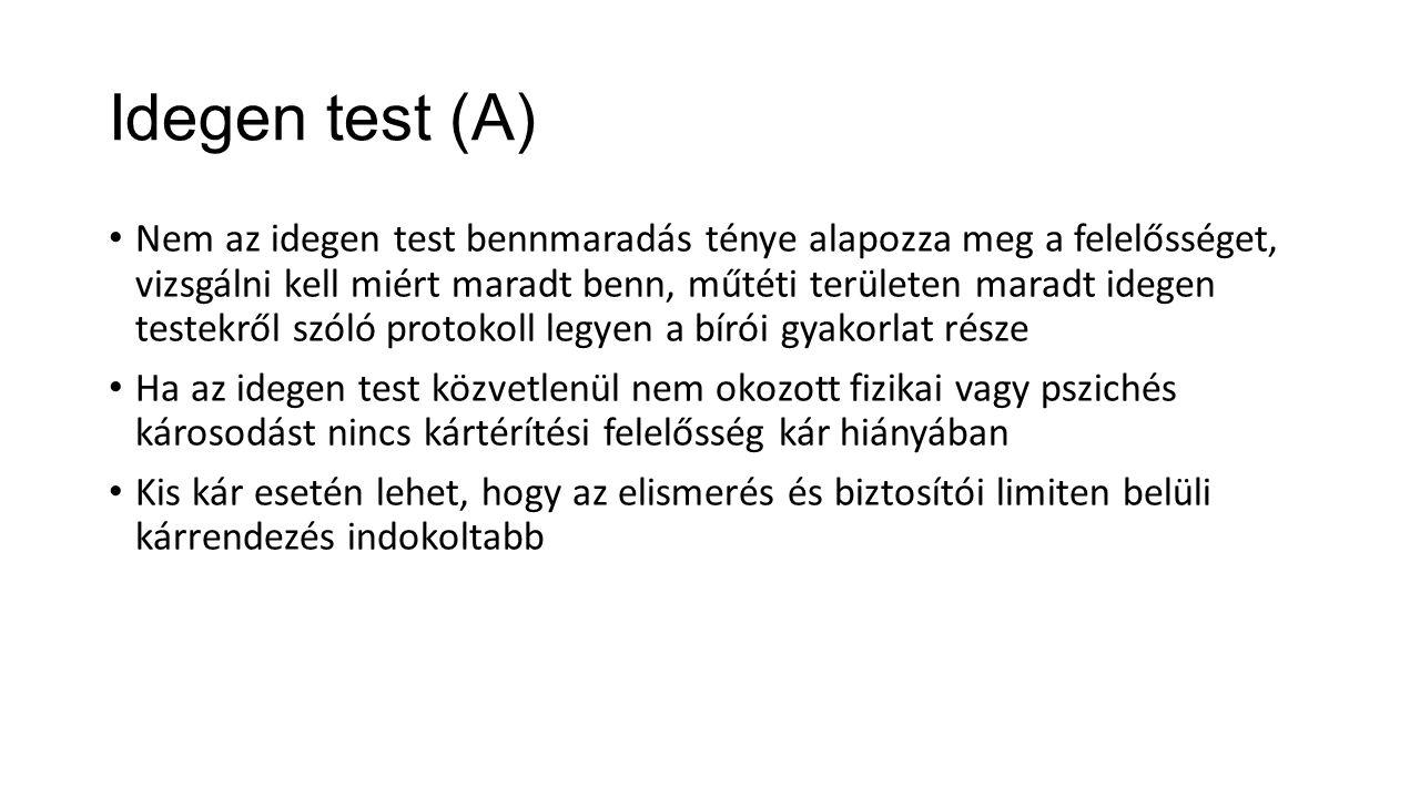 Idegen test (A)