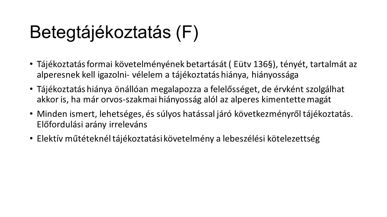 Betegtájékoztatás (F)