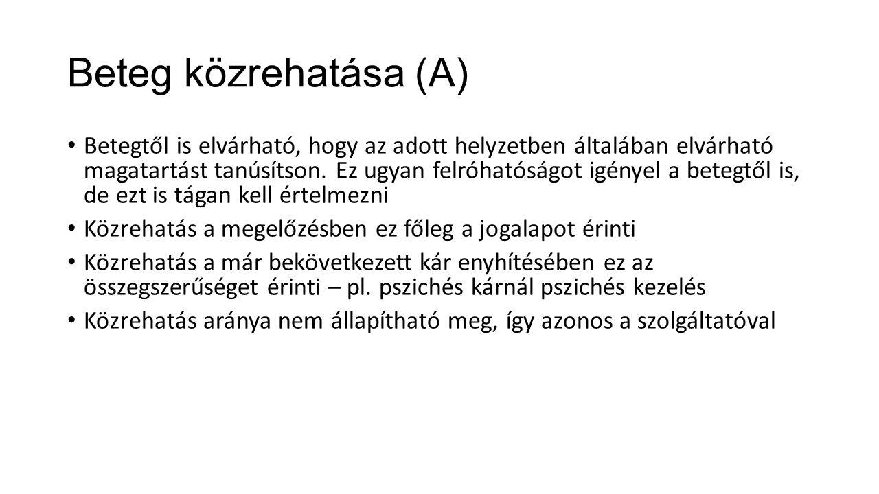 Beteg közrehatása (A)