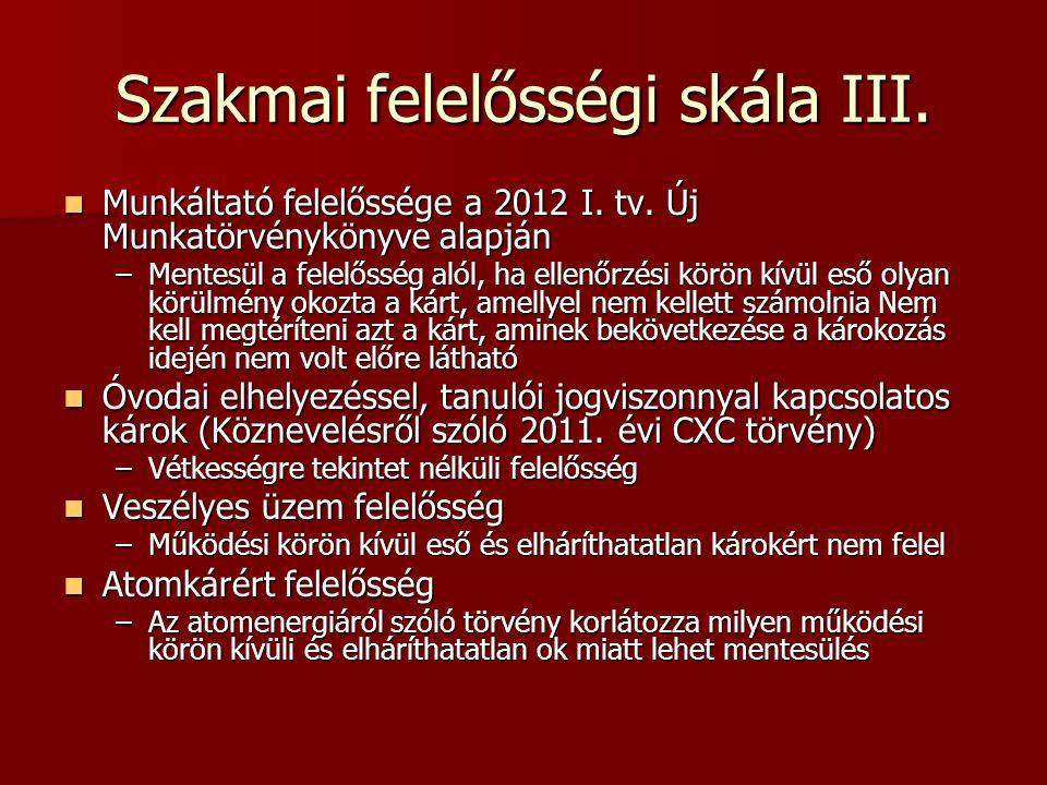 Szakmai felelősségi skála III.