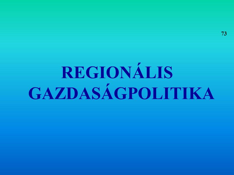 REGIONÁLIS GAZDASÁGPOLITIKA