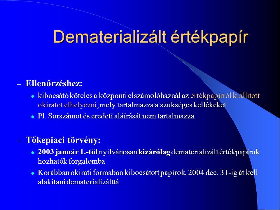 Dematerializált értékpapír