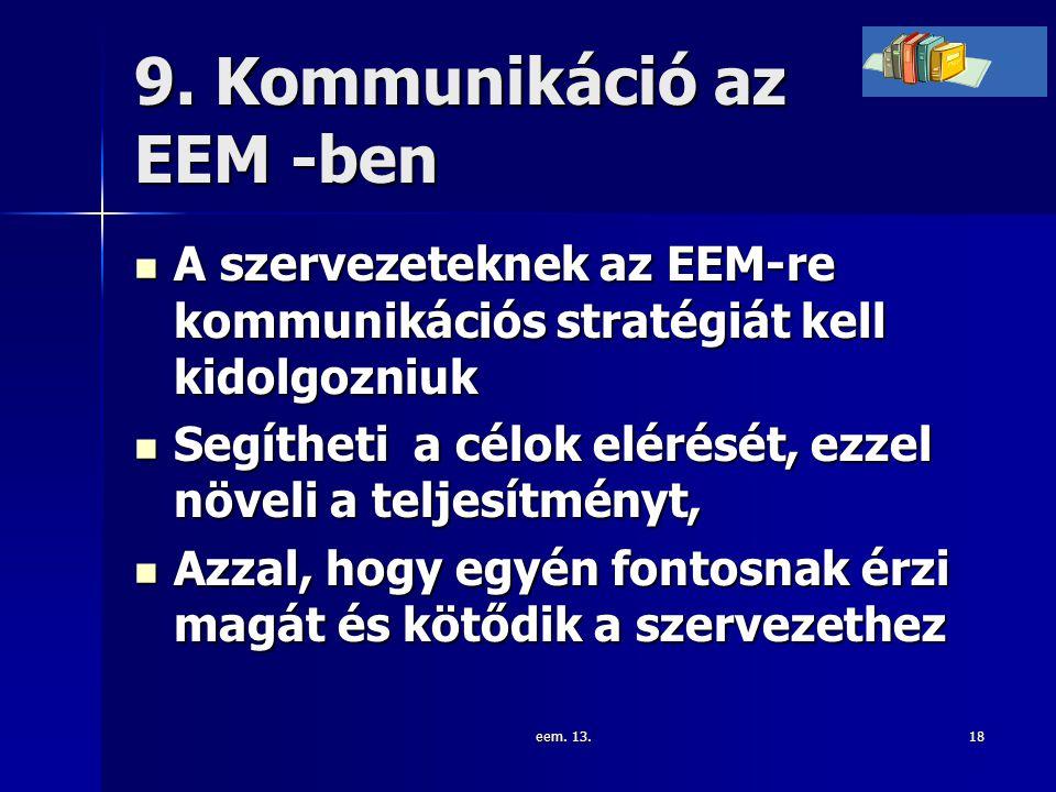9. Kommunikáció az EEM -ben