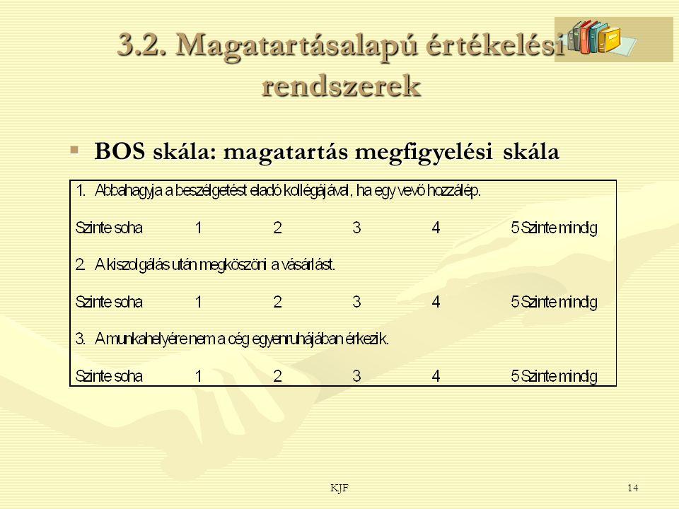 3.2. Magatartásalapú értékelési rendszerek