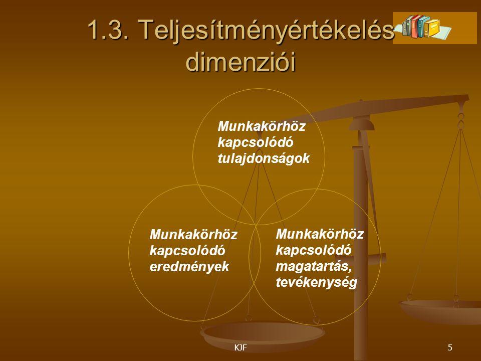 1.3. Teljesítményértékelés dimenziói