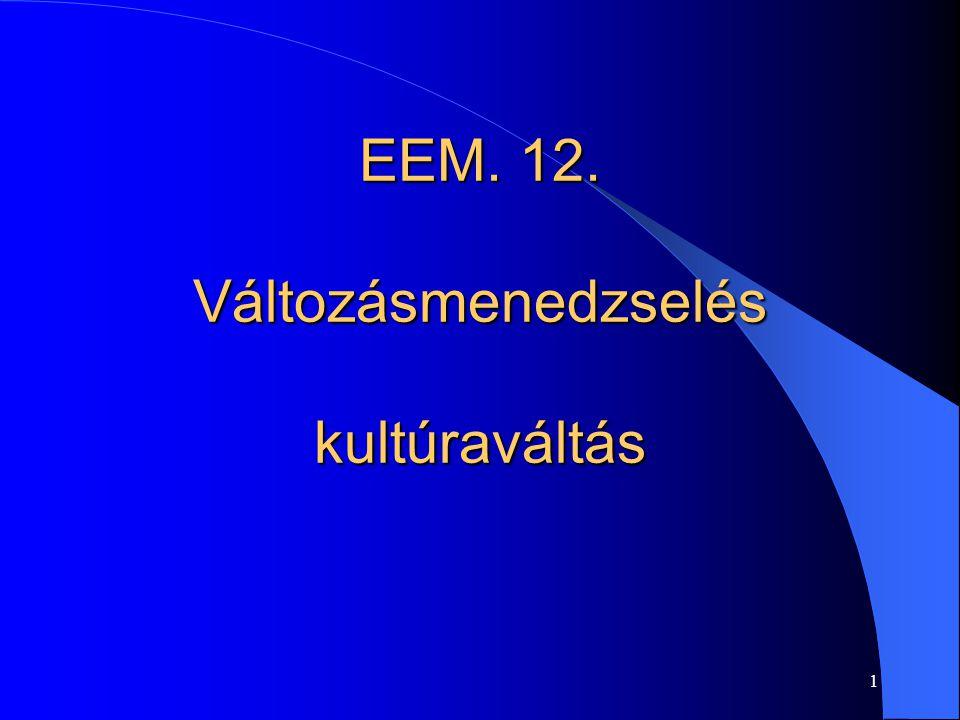 EEM. 12. Változásmenedzselés kultúraváltás