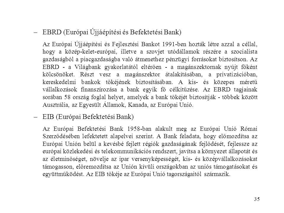 EBRD (Európai Újjáépítési és Befektetési Bank)