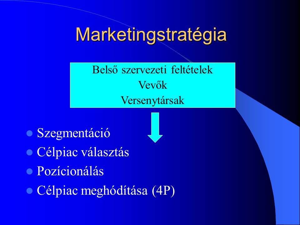 Belső szervezeti feltételek
