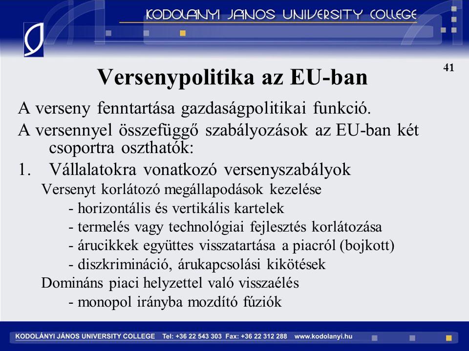 Versenypolitika az EU-ban