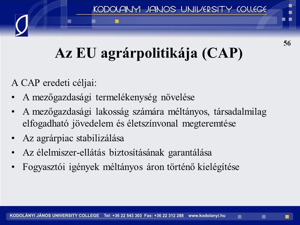 Az EU agrárpolitikája (CAP)