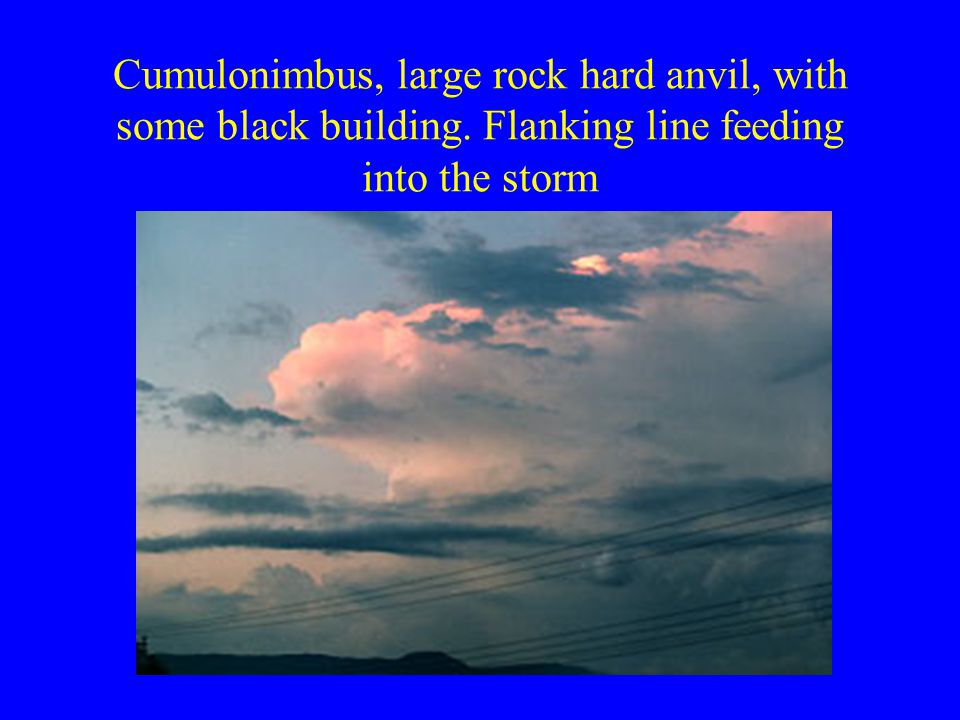 Cumulonimbus, large rock hard anvil, with some black building