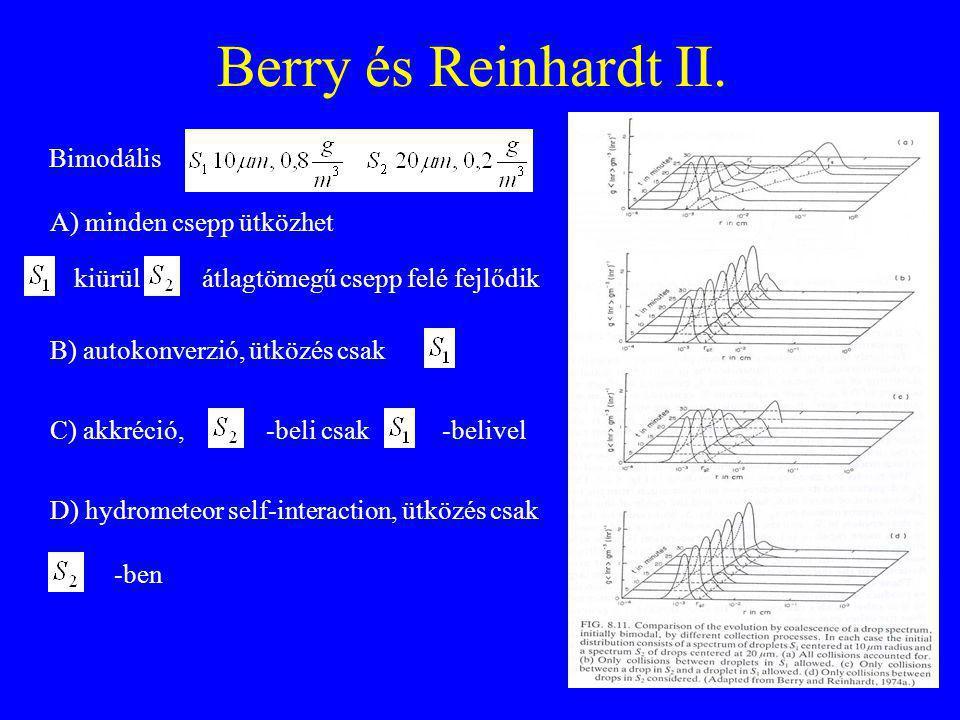 Berry és Reinhardt II. Bimodális A) minden csepp ütközhet kiürül
