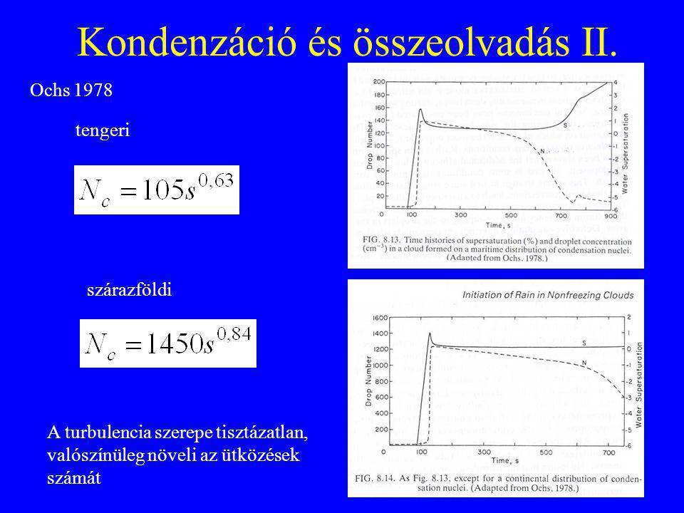 Kondenzáció és összeolvadás II.