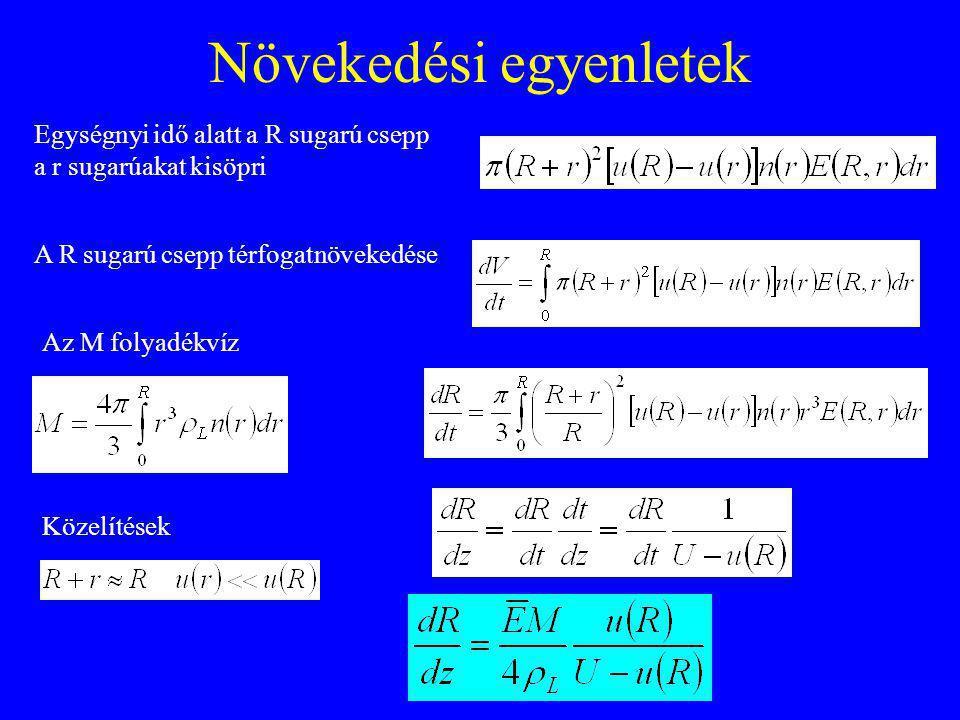 Növekedési egyenletek