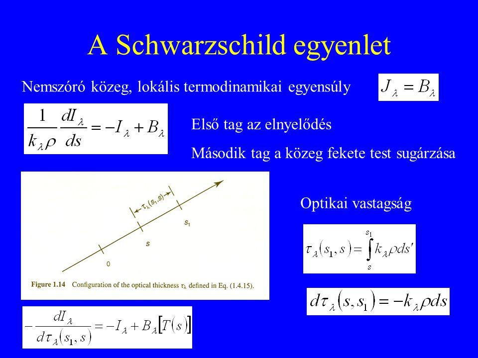 A Schwarzschild egyenlet