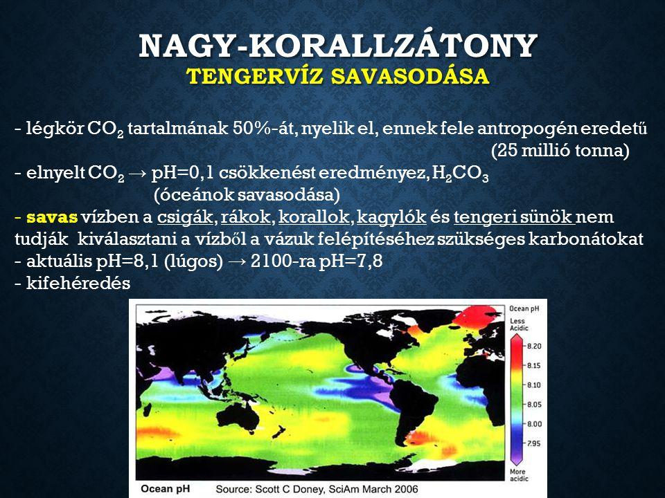 Nagy-Korallzátony tengervíz savasodása