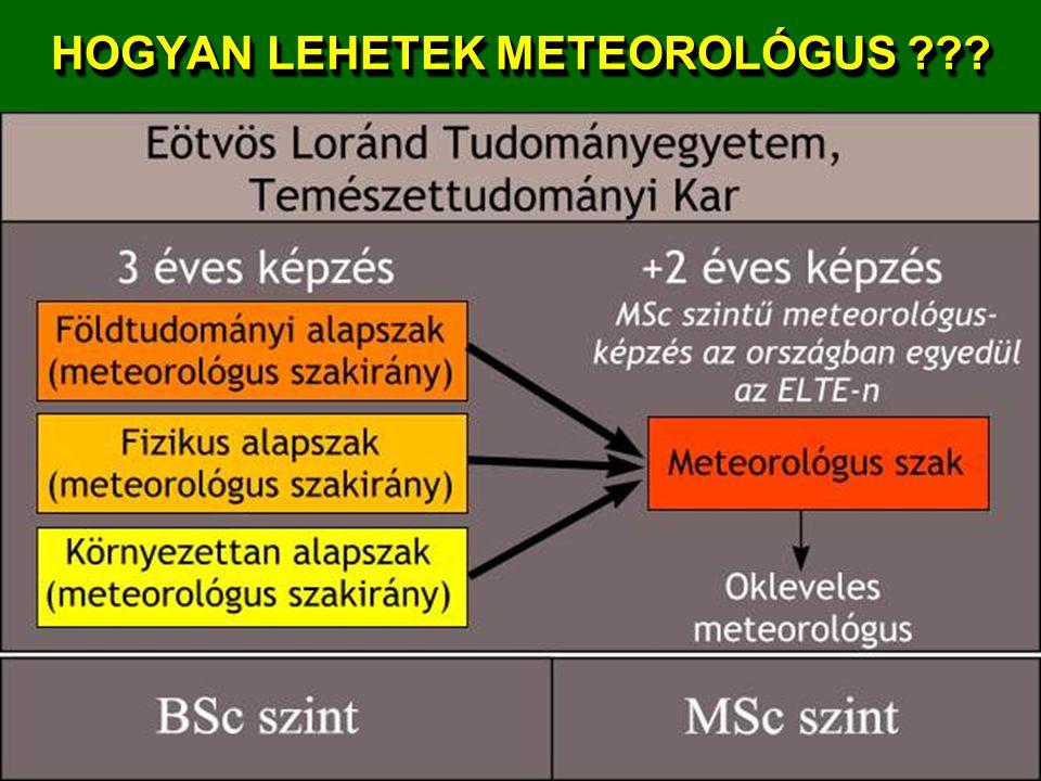 HOGYAN LEHETEK METEOROLÓGUS
