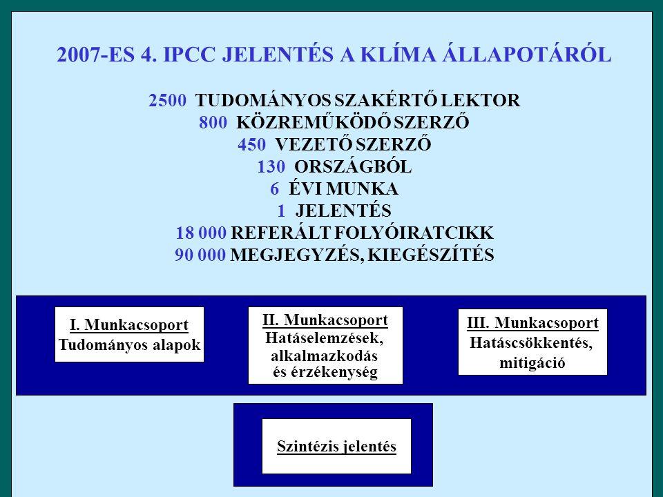 2007-ES 4. IPCC JELENTÉS A KLÍMA ÁLLAPOTÁRÓL