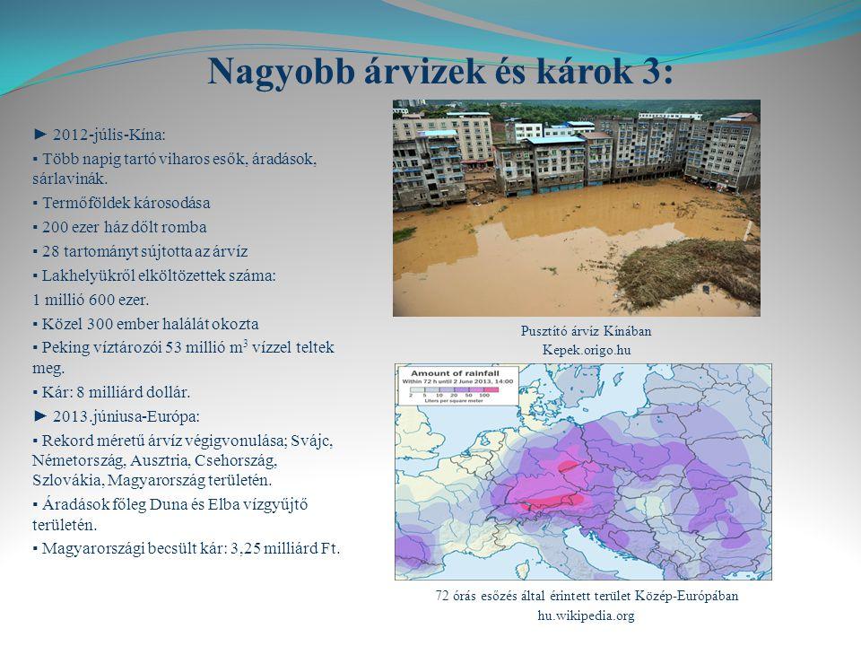 Nagyobb árvizek és károk 3: