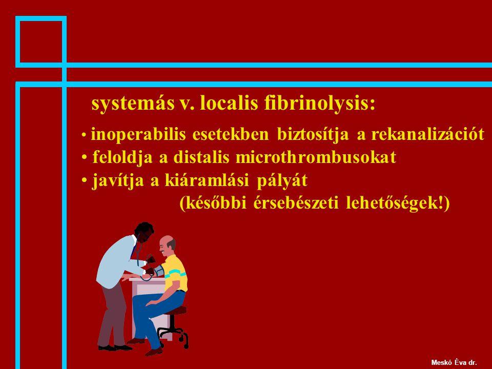 systemás v. localis fibrinolysis:
