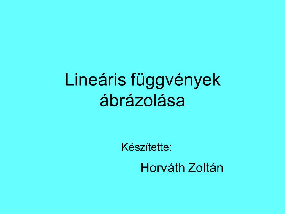 Lineáris függvények ábrázolása