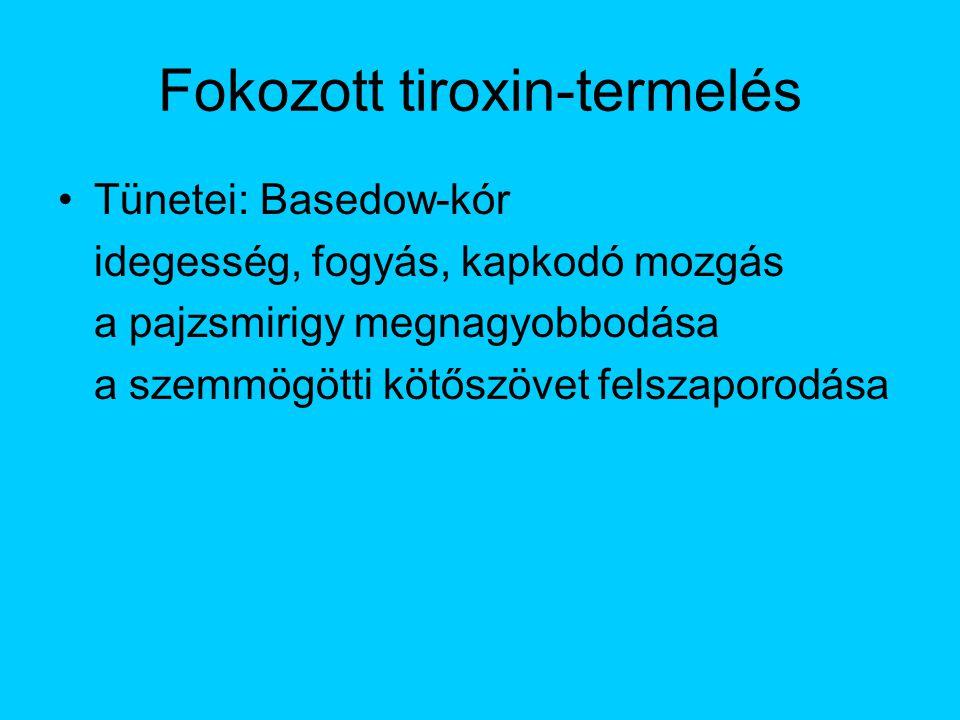 Fokozott tiroxin-termelés