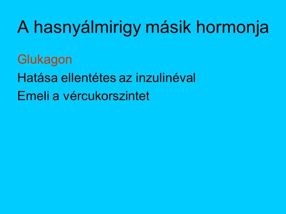 A hasnyálmirigy másik hormonja