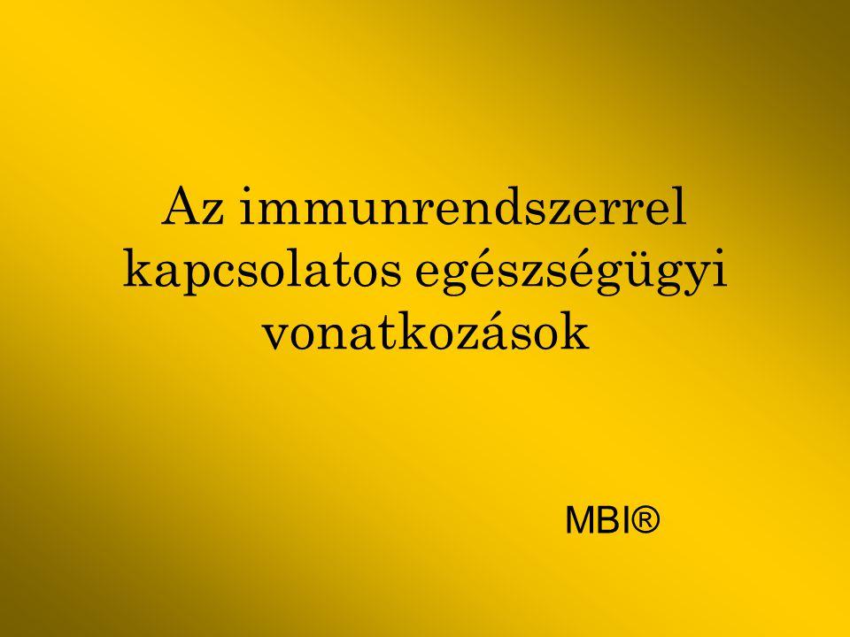 Az immunrendszerrel kapcsolatos egészségügyi vonatkozások