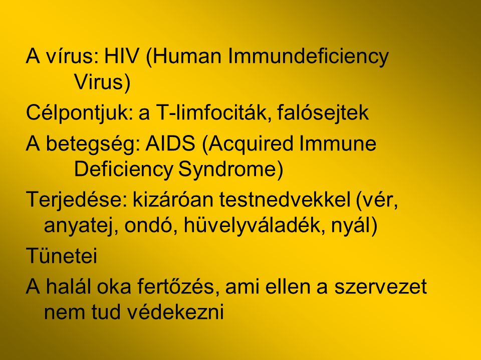 A vírus: HIV (Human Immundeficiency Virus)