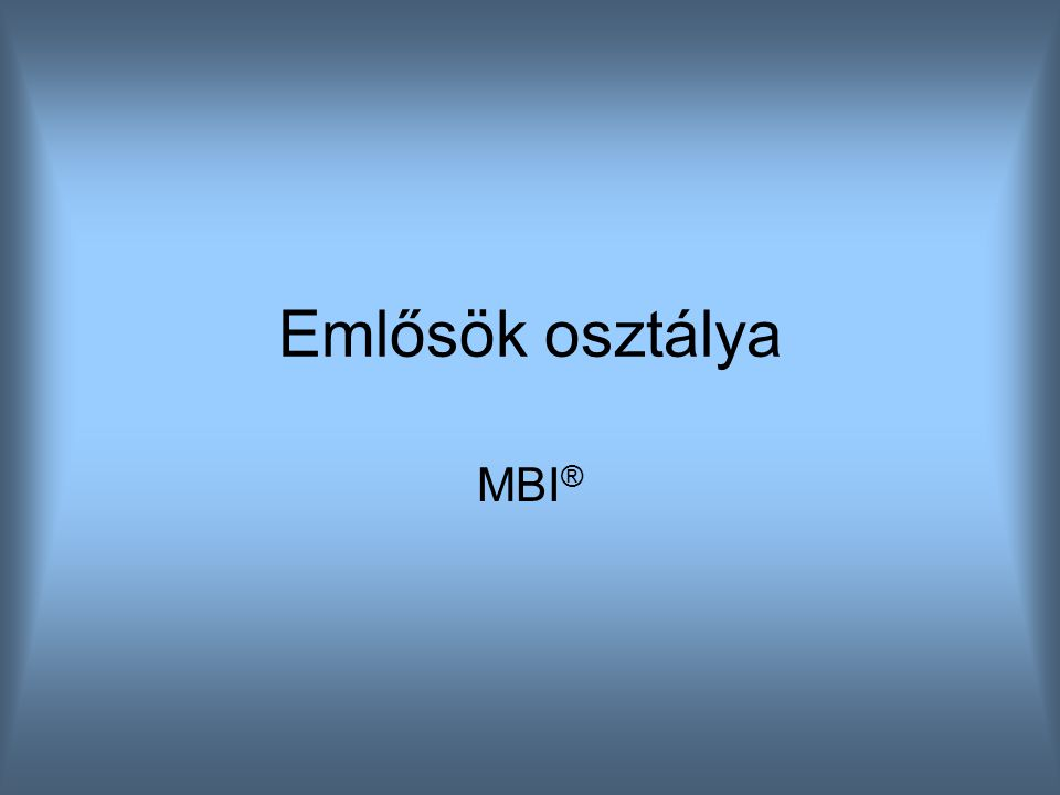Emlősök osztálya MBI®