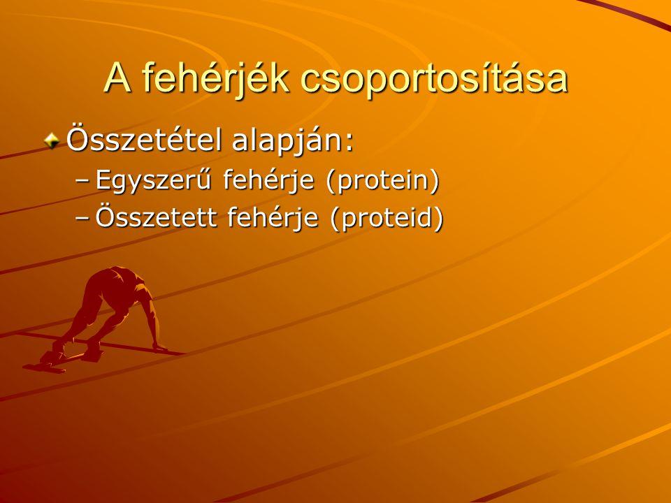 A fehérjék csoportosítása