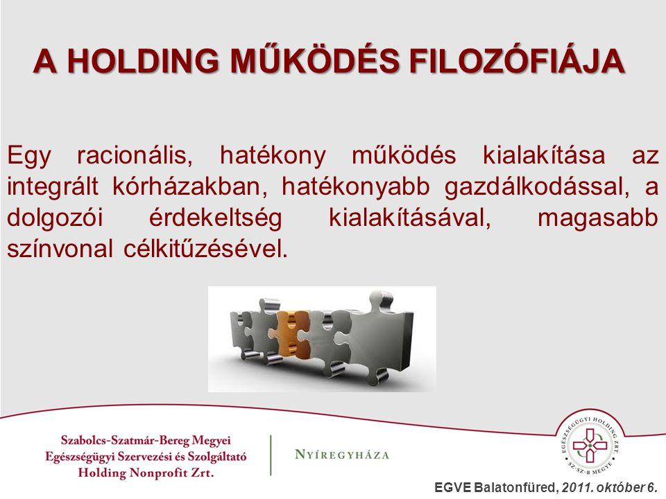 A HOLDING MŰKÖDÉS FILOZÓFIÁJA