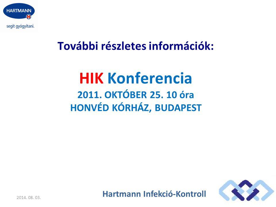 HIK Konferencia További részletes információk: