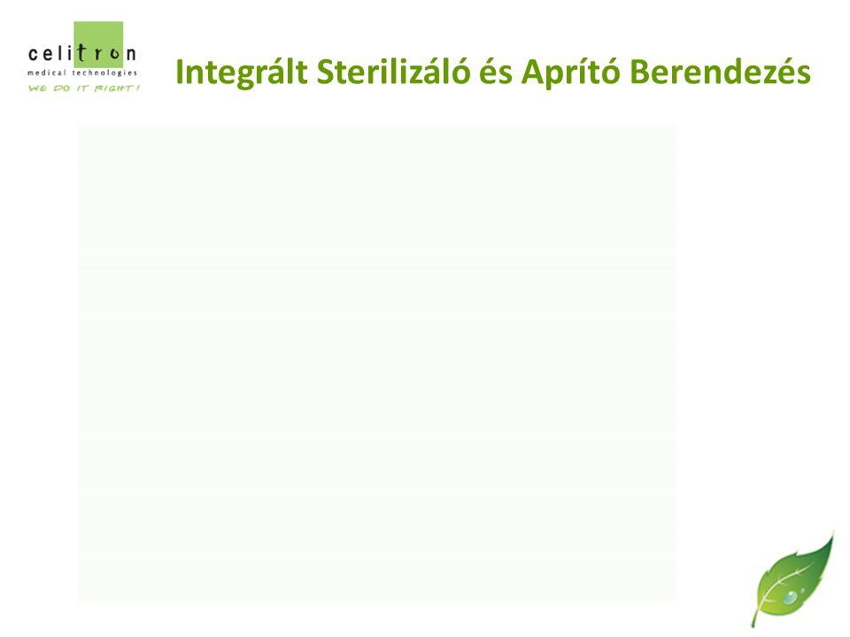 Integrált Sterilizáló és Aprító Berendezés