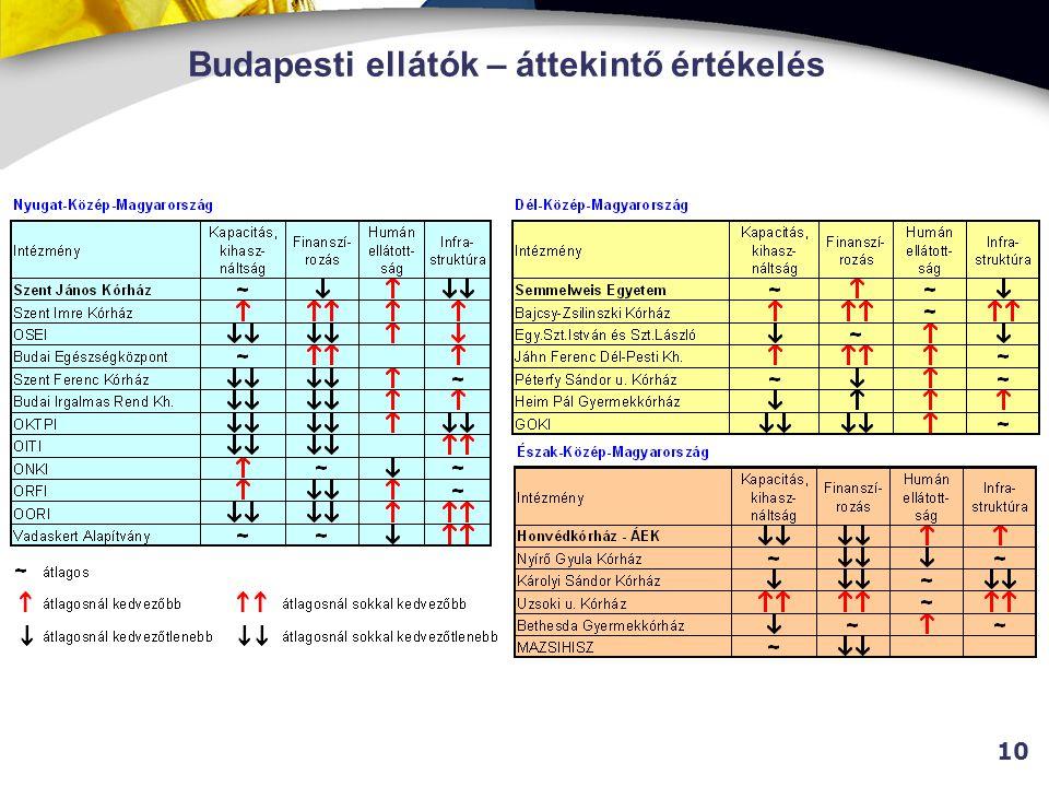 Budapesti ellátók – áttekintő értékelés