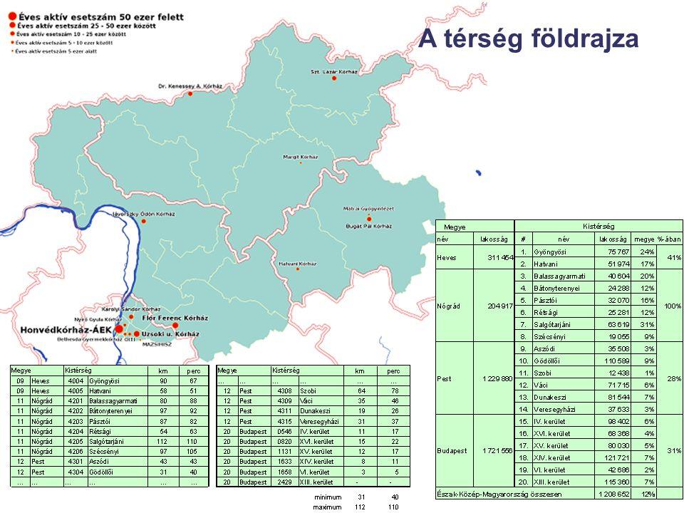 A térség földrajza