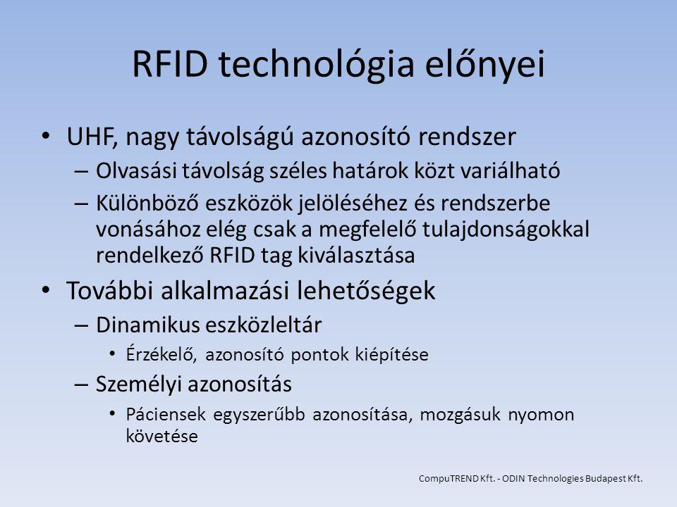RFID technológia előnyei