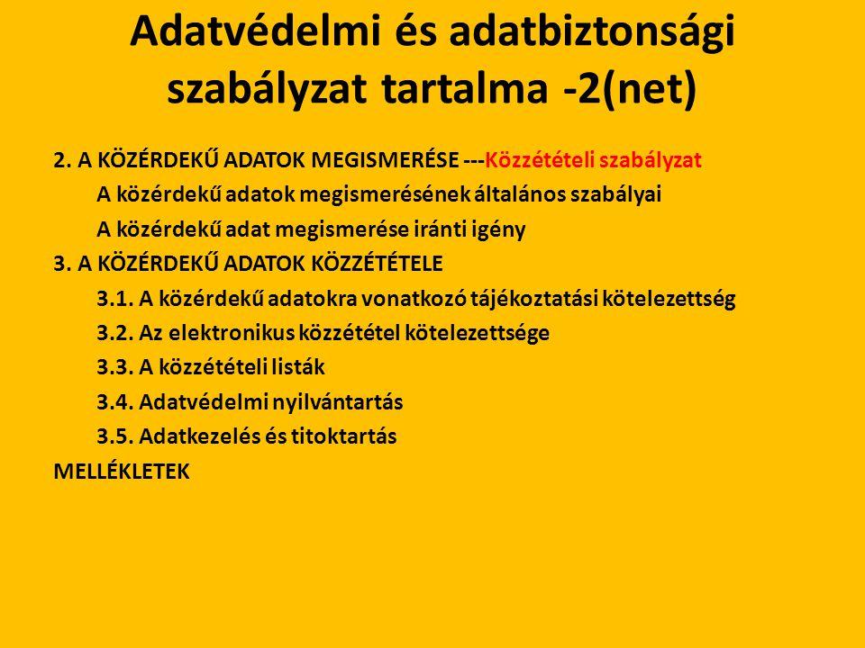 Adatvédelmi és adatbiztonsági szabályzat tartalma -2(net)
