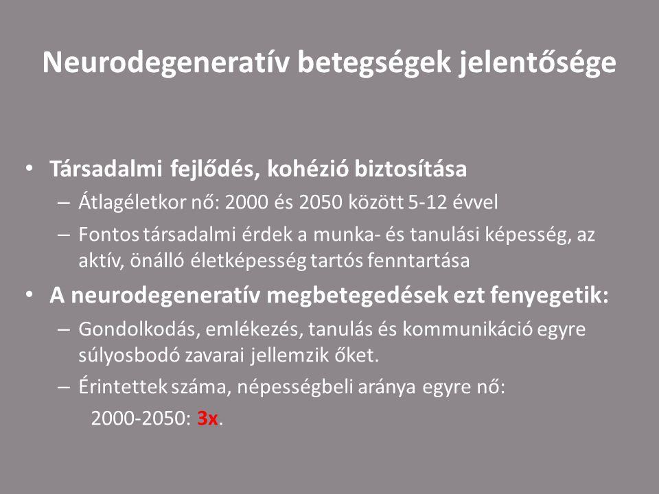 Neurodegeneratív betegségek jelentősége