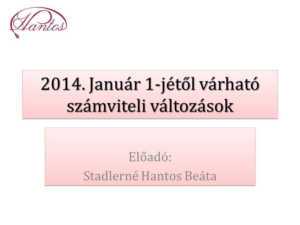 2014. Január 1-jétől várható számviteli változások